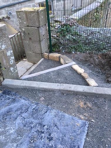 travaux aménagement extérieur jardin maçonnerie murets, escaliers, bordures lamballe 22 vitré 35