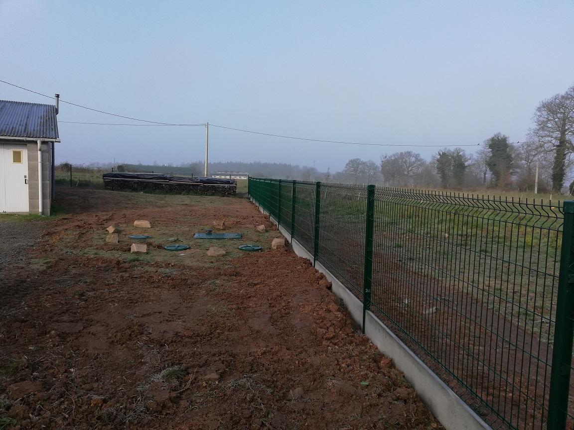 travaux aménagement extérieur jardin pose de clôtures lamballe 22 vitré 35
