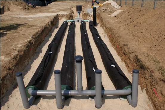travaux assainissement autonome individuel non collectif filtre à sable vertical non drainé lamballe 22 vitré 35