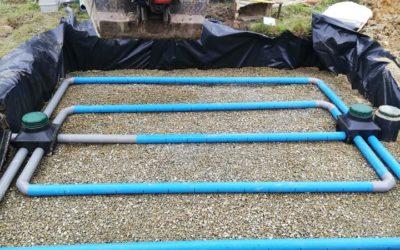 Filtre à sable vertical drainé de 25 m² à Guichen (35)
